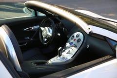 Interno bianco di Bugatti Veyron Fotografia Stock