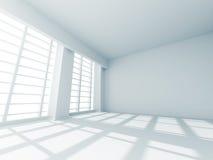 Interno bianco di progettazione della stanza vuota astratta Fotografie Stock