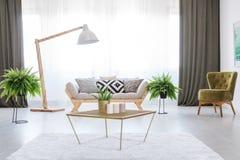 Interno bianco di un appartamento Fotografia Stock