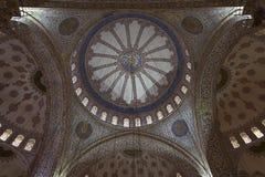 Interno blu della moschea Immagine Stock Libera da Diritti