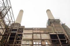 Interno, centrale elettrica di Battersea Fotografia Stock