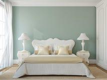 Interno classico della camera da letto. Fotografia Stock Libera da Diritti