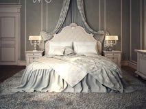 Interno classico della camera da letto Fotografia Stock Libera da Diritti