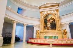 Interno classico della cattedrale di Helsinki Fotografie Stock