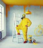 Interno con il soffitto dipinto Fotografie Stock Libere da Diritti