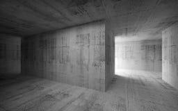Interno concreto astratto scuro vuoto illustrazione 3D illustrazione vettoriale
