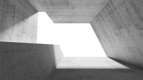 Interno concreto astratto vuoto 3 d Fotografie Stock