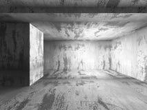 Interno concreto scuro della stanza Sedere astratte di industriale di architettura Fotografia Stock