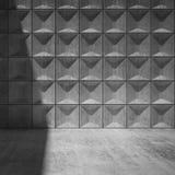 Interno concreto vuoto astratto della stanza Fotografie Stock Libere da Diritti
