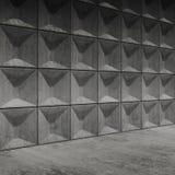 Interno concreto vuoto astratto della stanza Fotografia Stock