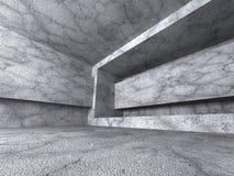 Interno concreto vuoto della stanza Sottragga la priorità bassa di architettura Immagine Stock