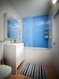Interno contemporaneo urbano moderno del WC del bagno Fotografia Stock Libera da Diritti