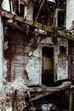 Interno crollato - Camera abbandonata Fotografia Stock