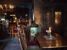 Interno d'annata del ristorante ebreo fotografia stock libera da diritti
