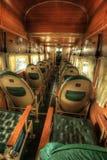 Interno d'annata dell'aeroplano Immagine Stock Libera da Diritti