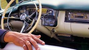 Interno d'annata dell'automobile Immagine Stock Libera da Diritti
