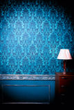 Interno d'annata di lusso con la tonalità blu Fotografia Stock Libera da Diritti