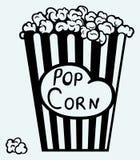 Interno d'esplosione del popcorn l'imballaggio illustrazione di stock