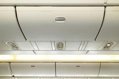 Interno degli aerei Fotografie Stock