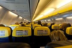 Interno degli aerei Fotografia Stock Libera da Diritti