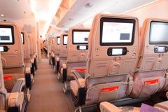 Interno degli aerei di Airbus A380 degli emirati Immagini Stock