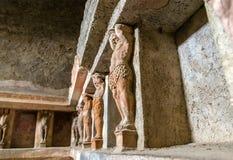 Interno dei bagni di Stabian a Pompei fotografie stock