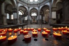 Interno dei Di Santa Maria della Salute, Venezia, Italia della basilica Fotografie Stock