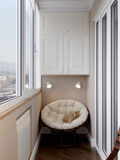 Interno del balcone Fotografia Stock Libera da Diritti