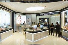 Interno del boutique dei cosmetici Fotografie Stock Libere da Diritti