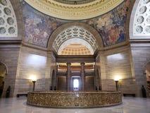 Interno del capitol dello stato del Missouri che costruisce Jefferson MO U.S.A. immagini stock libere da diritti