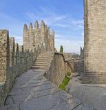 Interno del castello di Guimaraes, Guimaraes, Portogallo Immagine Stock Libera da Diritti