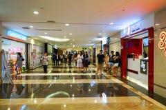 Interno del centro commerciale del centro commerciale Fotografie Stock