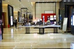 Interno del centro commerciale del centro commerciale Fotografia Stock Libera da Diritti