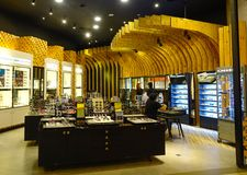 Interno del centro commerciale nel chilolitro, Malesia Immagini Stock
