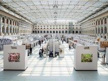 Interno del centro espositivo di Mosca Gostiny Dvor immagine stock libera da diritti