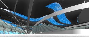 Interno del centro nazionale per i giochi olimpici acquatici Fotografia Stock Libera da Diritti