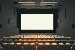 Interno del corridoio del cinema Immagine Stock Libera da Diritti