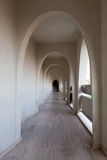 Interno del corridoio dell'hotel moderno Immagini Stock Libere da Diritti