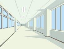Interno del corridoio dell'istituto universitario o della scuola Fotografie Stock