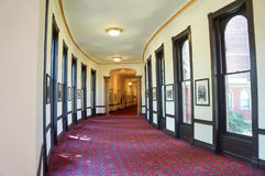 Interno del corridoio della pianta dell'università di Tampa, Florida Immagine Stock Libera da Diritti