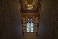 Interno del corridoio principale del Vijecnica, di precedente biblioteca e del comune di Sarajevo, Fotografia Stock