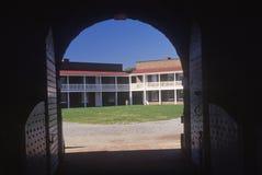 Interno del cortile del monumento nazionale forte di McHenry a Baltimora, MD immagine stock libera da diritti