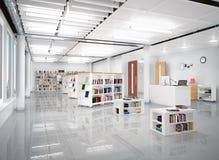 Interno del deposito di libro Fotografie Stock