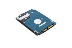 Interno del drive del hard disk isolato Fotografie Stock