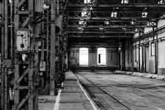 Interno del fabbricato industriale fotografie stock libere da diritti
