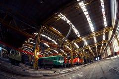 Interno del fabbricato industriale immagine stock