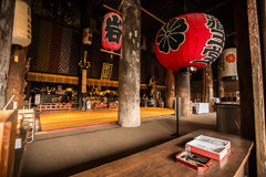 Interno del giapponese Zen Temple, Yoshino Mountain fotografia stock libera da diritti
