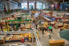 Interno del mercato del giardino di Covent a Londra, SOPRA, il Canada immagini stock libere da diritti