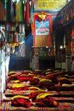 Interno del monastero di Drepung Fotografia Stock