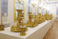 Interno del Museo dell'Ermitage dello stato, St Petersburg, Russia Fotografia Stock
